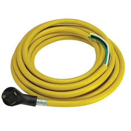 - Quick Products QP-30-25H 30 Amp RV Cord - Grip Handle Plug and 5