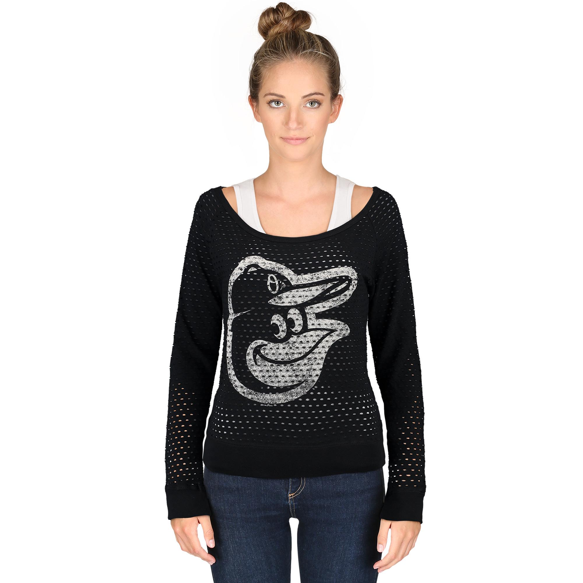 Women's G-III 4Her by Carl Banks Black Baltimore Orioles Holy Sweatshirt