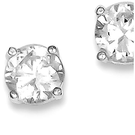 925 Sterling Silver Round Cubic Zirconia Cz 5mm Post Stud Ball Button Earrings Fine Jewelry Ideal Gifts For Women Gift Set From (Ball In Cubic Zirconia Jewelry Set)