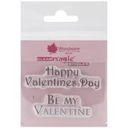 """Woodware Clear Stamps 2.5""""X1.75""""-Happy Valentine's Day"""