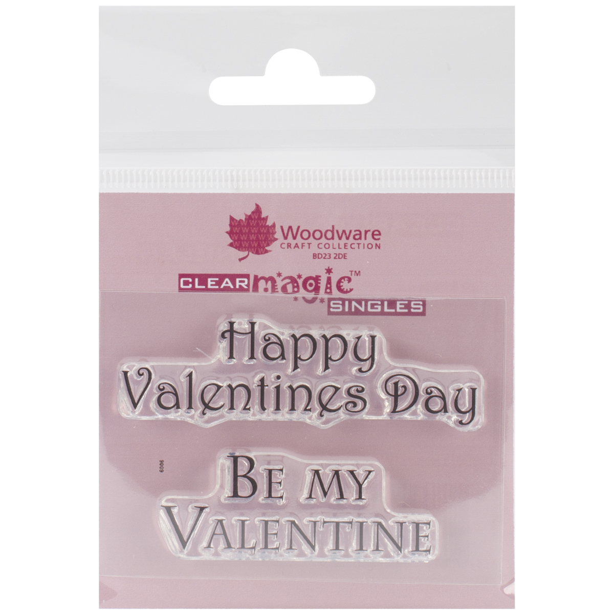 "Woodware Clear Stamps 2.5""X1.75""-Happy Valentine's Day"