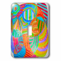 3dRose A doodle done in colored pencils with bright hues - Single Toggle Switch