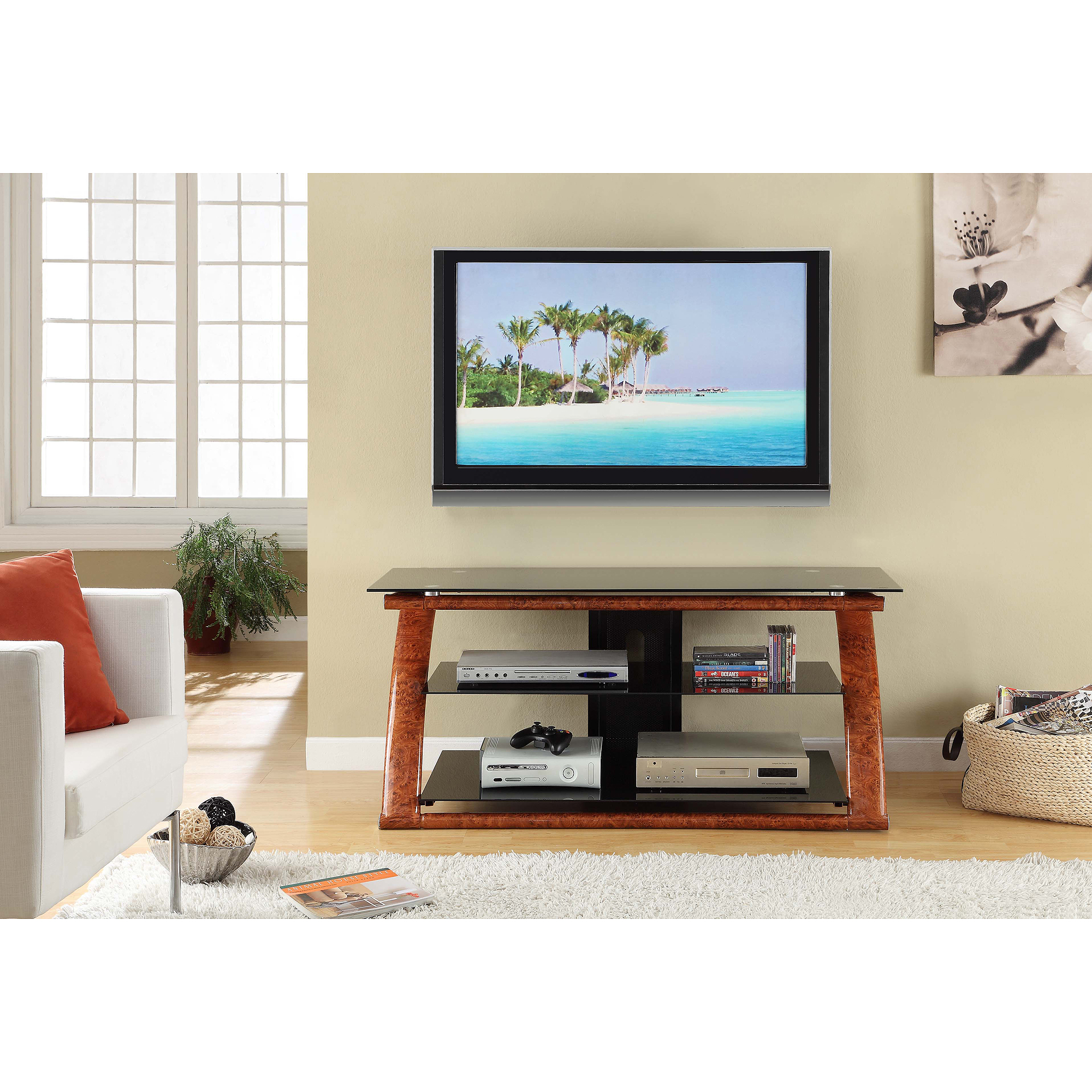 """Innovex Nexus TV Stand for TVs up 60"""", Multiple Finishes"""