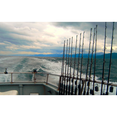 Canvas Print Cook's Inlet Alaska Fishing Offshore Boat Stretched Canvas 10 x