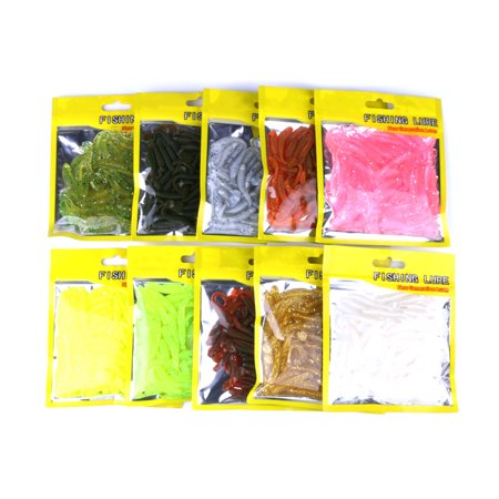 Spiral T Fish Bait Artificial Soft Lure Striped Fishing Worm Spinning Softbaits Tackles Tools River
