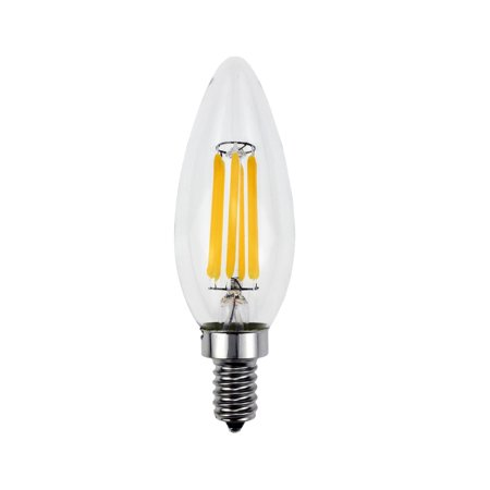 Goodlite  5W LED Filament Candelabra Bulb Dimmable Torpedo Tip 60W Equivalent Incandescent Bulb (Pack of 10)