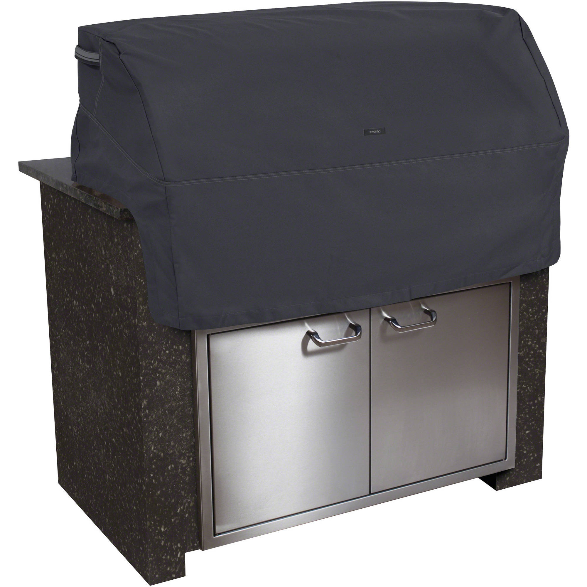 Classic Accessories Ravenna Built-in BBQ Grill Top Cover, Black