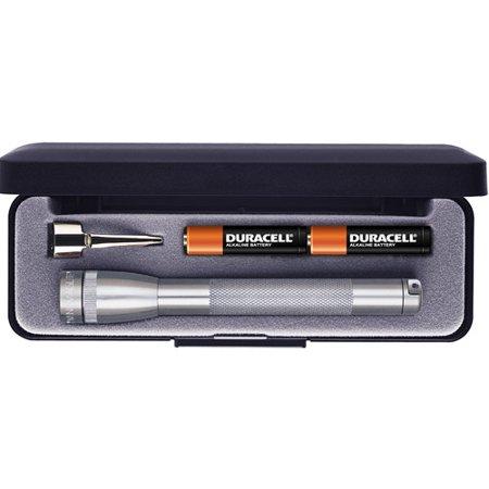 Mini MagLite AAA Flashlight with Presentation Box, Gray