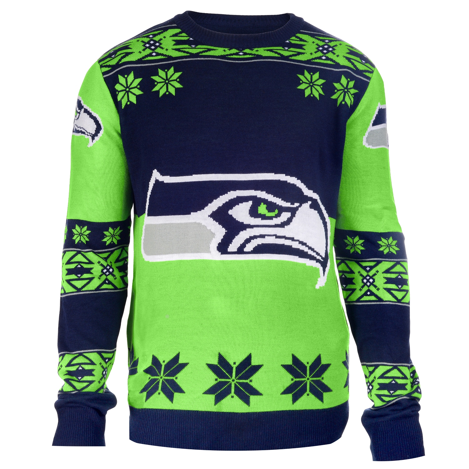 "Seattle Seahawks Men's NFL ""Big Logo"" Ugly Sweater"