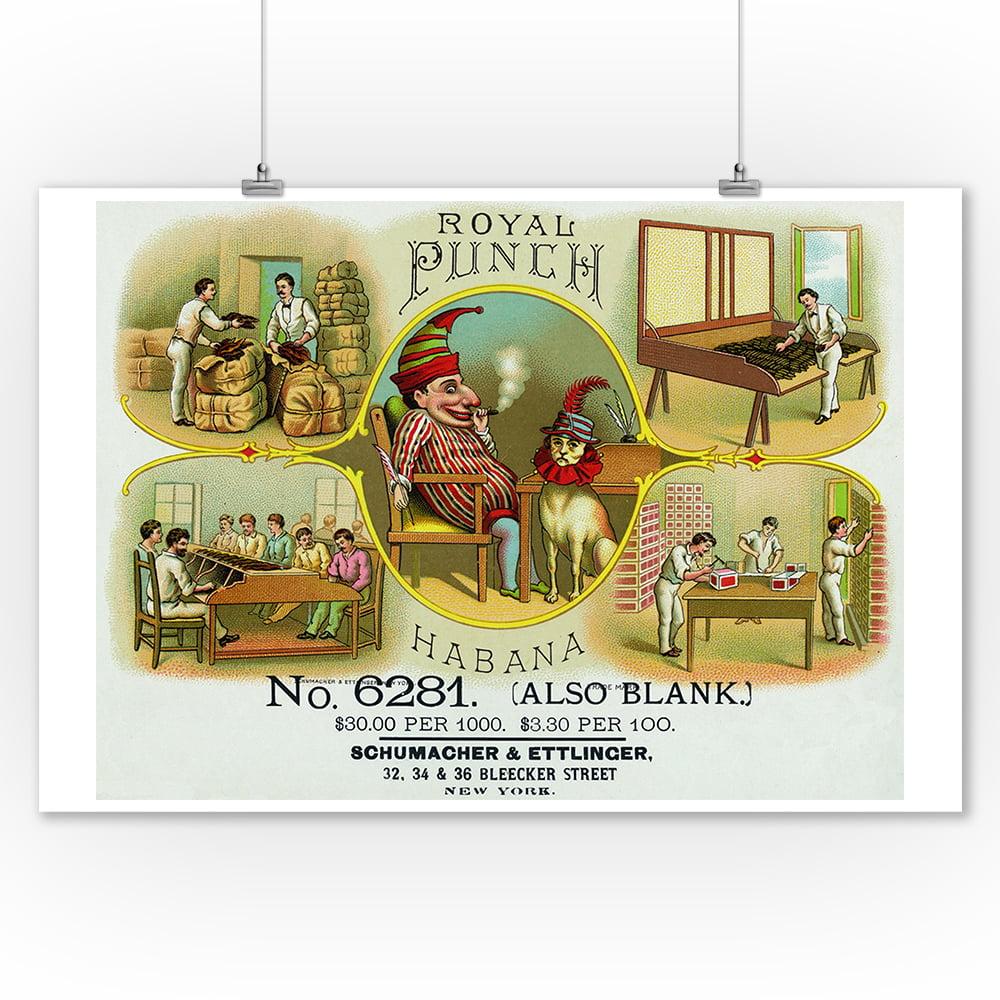 Cigar Box Wall Art: Royal Punch Brand Cigar Box Label (9x12 Art Print, Wall