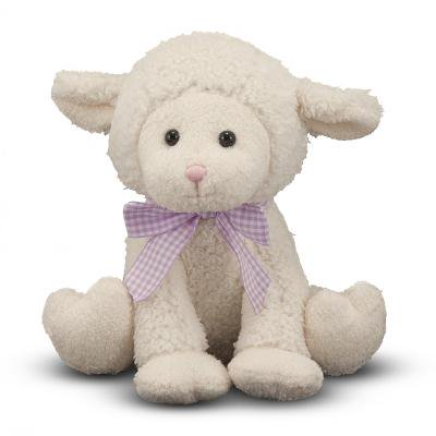 Melissa & Doug Meadow Medley Lamby, Stuffed Animal Baby Lamb Doug Puzzles Stuffed Animals