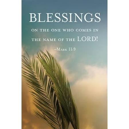 Blessings Palm Sunday Bulletin (Pkg of 50)