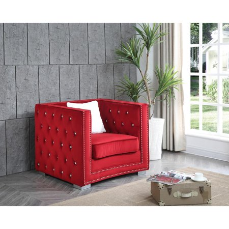 Glory Furniture Miami G809-C Chair, Red ()
