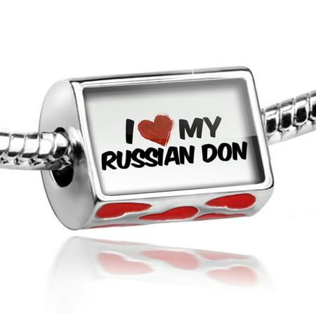 Bead I Love My Russian Don  Horse Charm Fits All European Bracelets