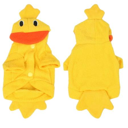 Halloween Costume Duck Yellow Fleece Puppy Dog Clothes Coat Apparel XXS