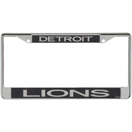Detroit Lions Small Over Big Glitter License Plate Frame - Black Nittany Lions License Plate Frame