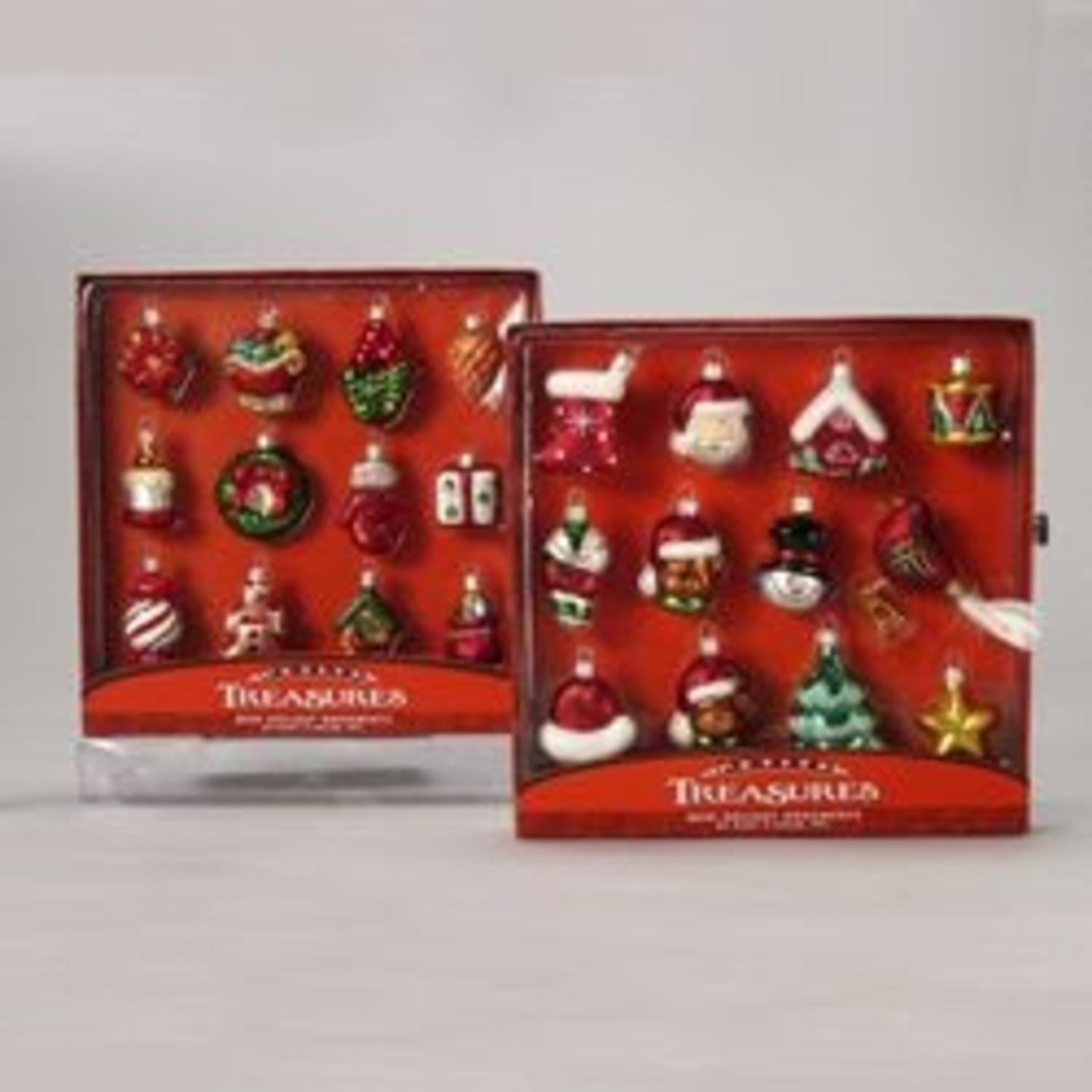 Club Pack of 72 Miniature Petite Treasures Glass Christmas Ornaments