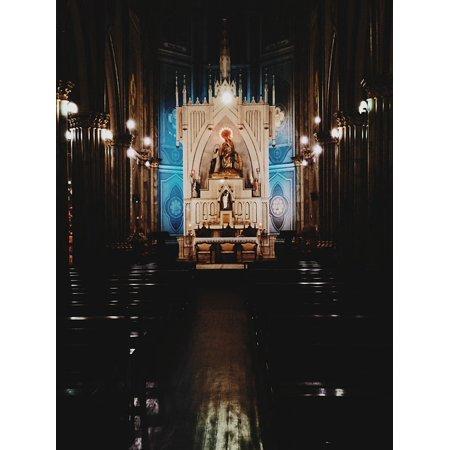 LAMINATED POSTER Church Lights Light Jesus Shadows Santo Baroque Poster Print 24 x (Santos Mahogany Light Laminate)