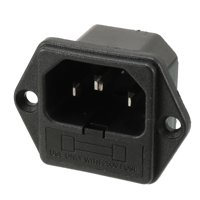 UL Listed AC 250V 10A IEC320 C14 Male Power Cord Inlet Socket with Fuse Holder