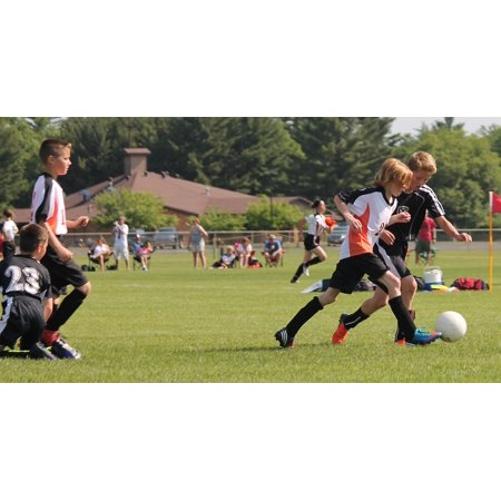 LAMINATED POSTER Youth Game Play Young Football Team Soccer Ball Poster Print 24 x 36
