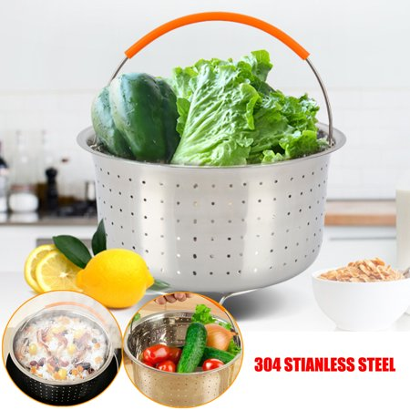 For Instant Pot /Rice Pressure Cooker Food Steam Steamer Basket w/Handle 304 Stainless Steel  - image 5 of 9