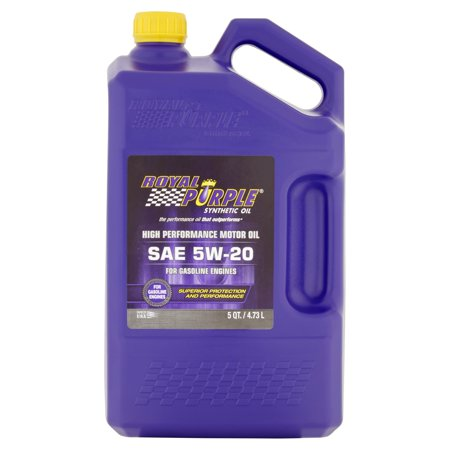 Royal purple sae 5w 20 synthetic oil 5 qt walmart for Which motor oil is thicker