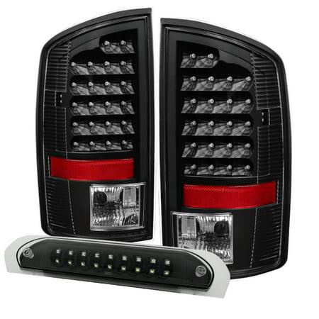 - Xtune Dodge Ram 02-06 1500 LED Tail Light w/ LED 3rd Brake Lamps- Black ALT-JH-DR02-LED-SET-BK