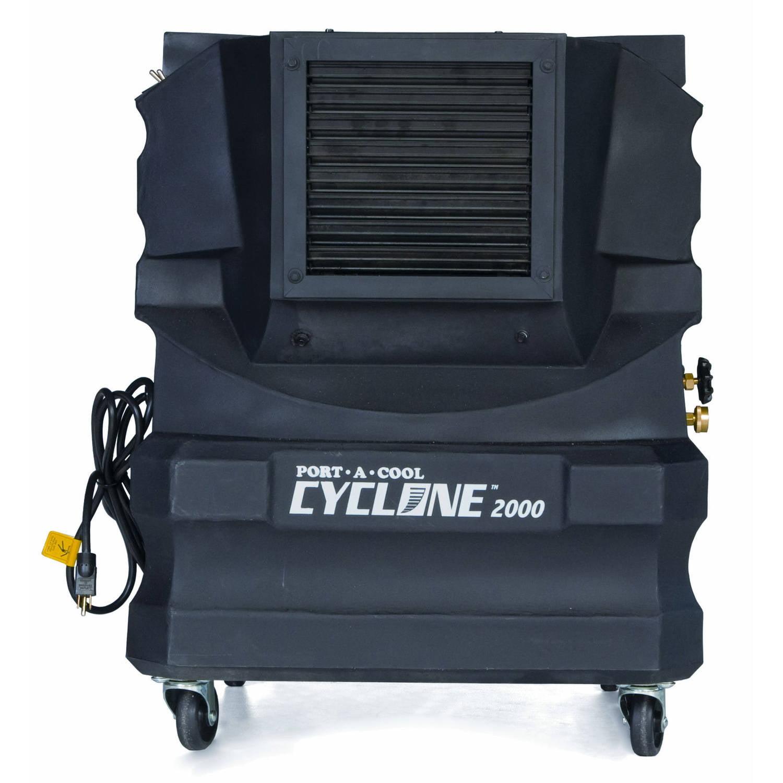 Port-A-Cool Cyclone 2000 Portable Evaporative Cooling Unit, Black