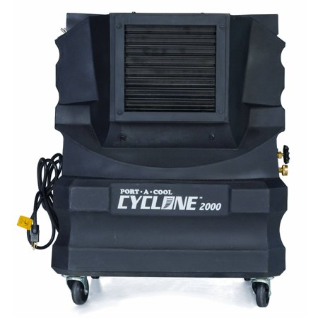 Port-A-Cool Cyclone 2000 Portable Evaporative Cooling Unit, Black