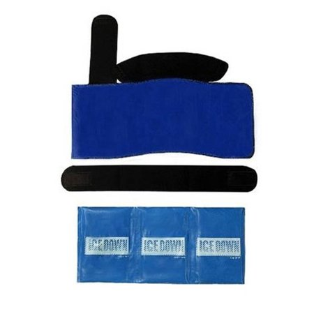 I.C.E. DOWN XLARGE SHOULDER COLD THERAPY WRAP For application on right or left shoulder. Includes 1 neoprene wrap with Velcro type hook and loop fabric and one 23