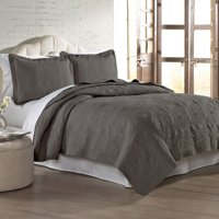 Luxury Home Ultra Soft Medallion Embroidered 2 - 3 Piece Quilt Set