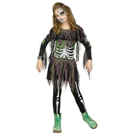 Halloween Crafts For 8-10 Year Olds (Tween Fun World 3D Skeleton Halloween Costume 8-10)