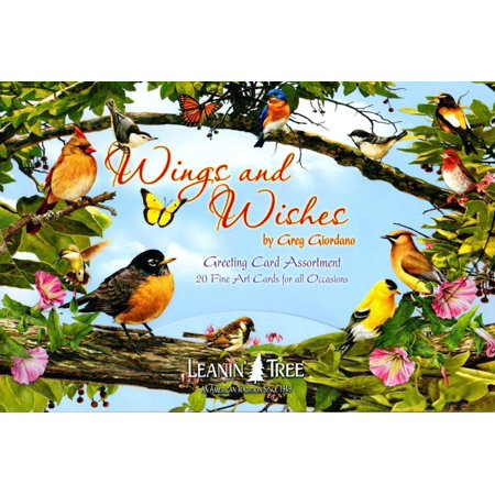 LEANIN TREE 20 PACK DESIGN BIRTHDAY GREETING CARDS ASSORTMENT WINGS AND WISHES MADE In