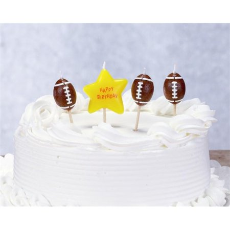 Biedermann & Sons C1609C Football Theme Birthday Candles](Football Themed Events)