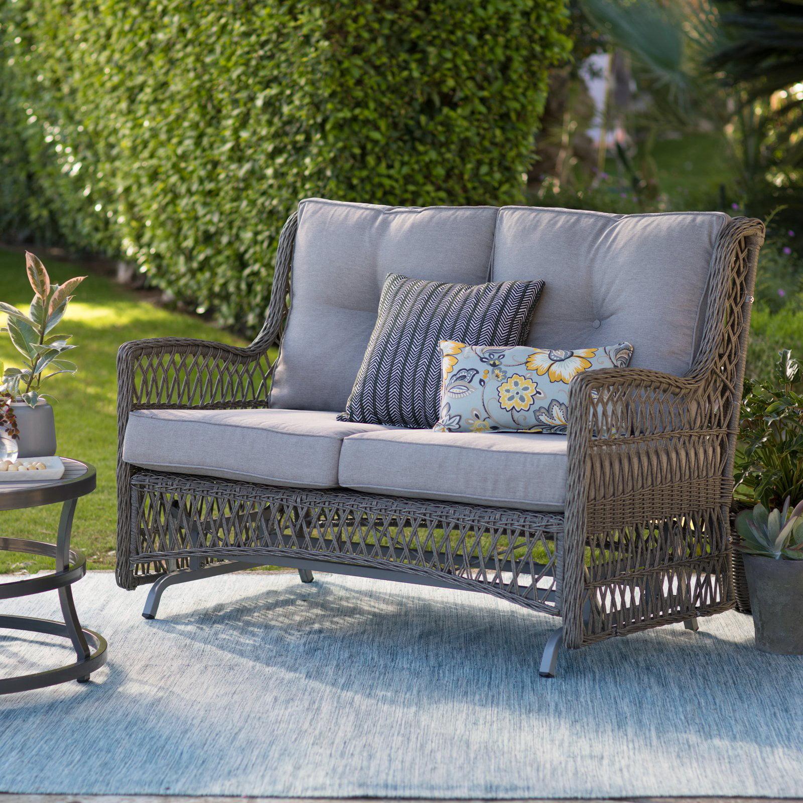 Belham Living Bristol Outdoor Glider Bench With Cushions Walmart Com