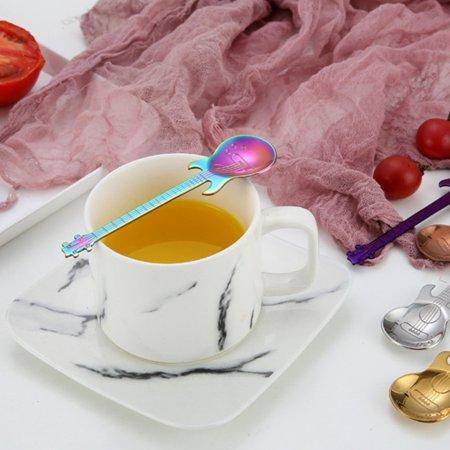 Guitar Coffee Spoon Set Stainless Steel Dessert Ice Cream Spoon Tea Spoon Coffee Accessories Flatware Drinking Tools - image 5 of 11