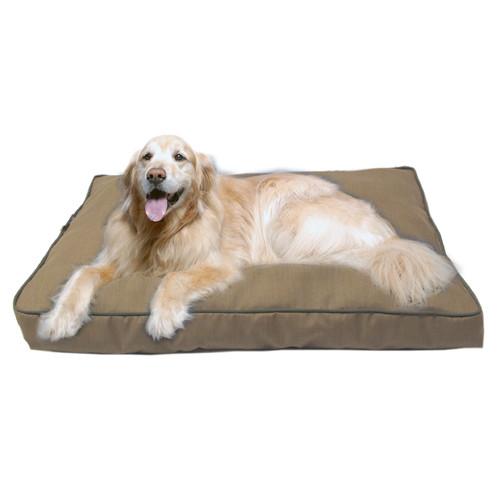 Carolina Pet Company Jamison Indoor/Outdoor Pet Bed - Tan with Green Cording