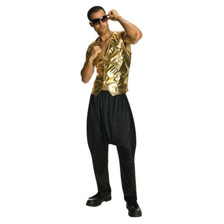 Black MC Hammer Parachute Pants Vanilla Ice 90's 80's Rap Hip Hop Mens Costume