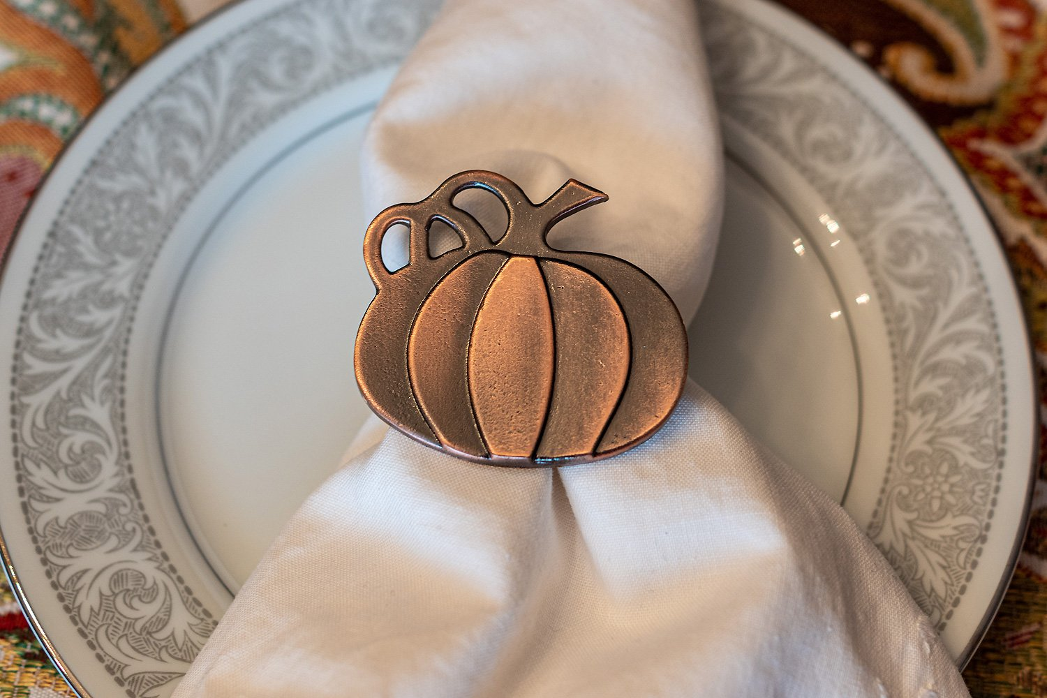 Pumpkin Napkin Rings For Thanksgiving Halloween Party Dinners Parties Set Of 4 Napkin Holders Walmart Com Walmart Com