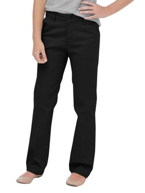 Genuine Dickies Girls School Uniform Flex Slim Fit Straight Leg Flat Front Pants (Big Girls)