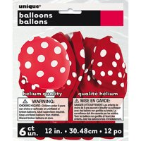 Latex Polka Dot Balloons, 12in, 6ct
