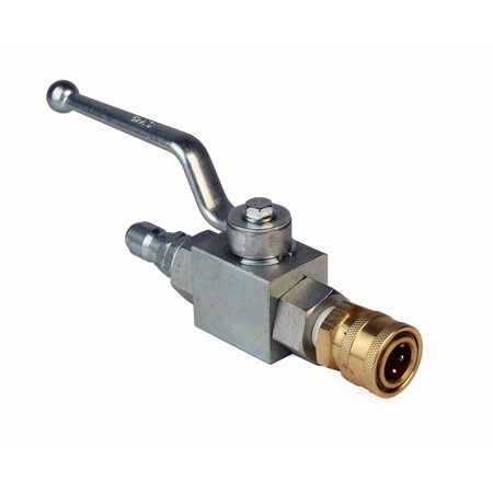 Raptor Blast 3/8in. Ball Valve with Couplers for Whirl-A-Way Vortex Mosmatic MI-T-M Surface Cleaner