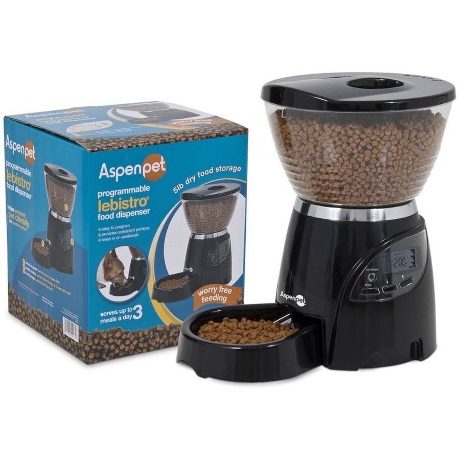 Aspen Pet Le Bistro Programmable Feeder, 5 lb Capacity
