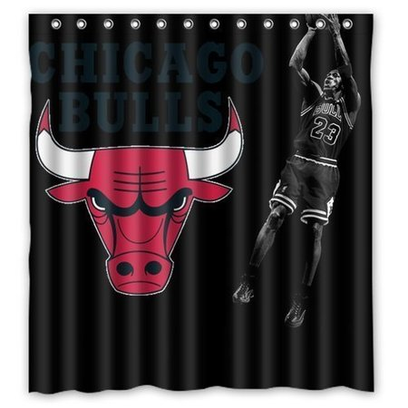 DEYOU Michael Jordan Chicago Bulls Shower Curtain Polyester Fabric Bathroom Size 60x72 Inches