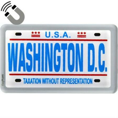 Washington D C  License Plate Acrylic Small Fridge Collectors Souvenir Magnet 2 Inches X 1 25 Inches