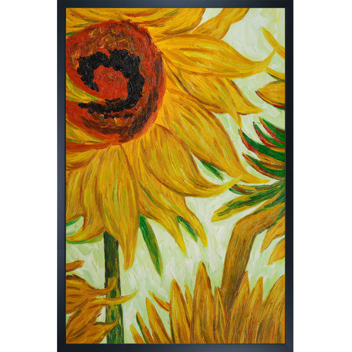 Wildon Home Sunflowers (Detail) by Vincent Van Gogh Framed Painting
