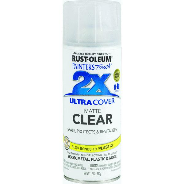 RustOleum Painter's Touch 2X Ultra Cover Clear Finish Spray Paint