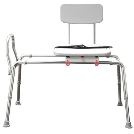 Snap N Save Sliding Transfer Bench 77662 W Swivel Seat