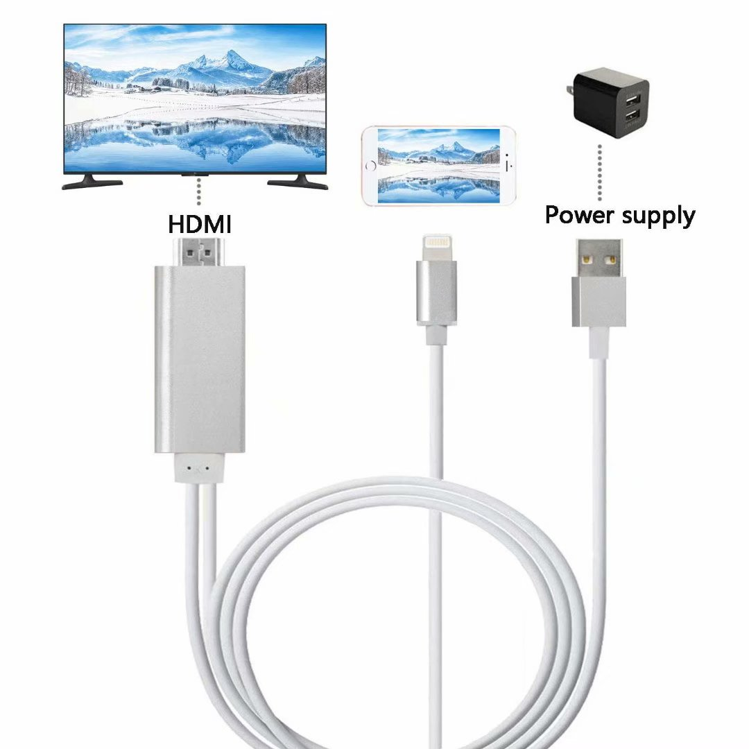 CHEAXICS Compatible with Phone X 8 7 6 5 Pad Pod HDMI Cable Digital AV Adapter 2018 Latest Plug and Play 1080P Audio AV Connector