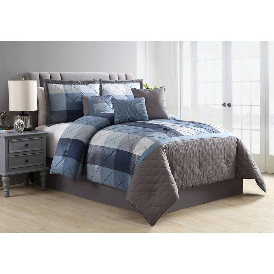 Better Homes and Gardens Elliot 7-Piece Plaid Bedding Comforter Set